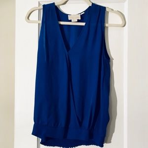 Cynthia Rowley blue silk sleeveless blouse top